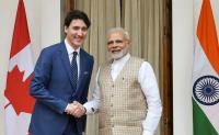 Justin Trudeau meets Narendra Modi in Delhi, holds talks on trade and energy
