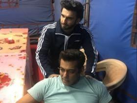 Ranveer Singh visits sets of Salman Khan, Jacqueline Fernandez's Race 3