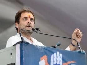 Rahul Gandhi woos Dalits in Gujarat with flag politics