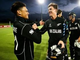 Highlights, ICC Under-19 World Cup 2018, New Zealand vs South Africa Full cricket score: Ravindra's all-round show helps Kiwis top group