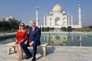 Benjamin Netanyahu's India tour: Israel PM visits Taj Mahal, praises India's economic prowess at Raisina Dialogue