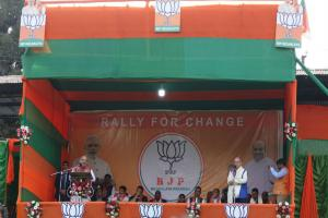 Amit Shah in Shillong: Meghalaya will be a model, corruption-free state, promises BJP president