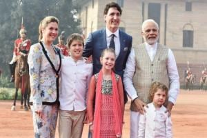 Justin Trudeau given ceremonial welcome at Rashtrapati Bhavan: Narendra Modi welcomes Canadian PM with a hug
