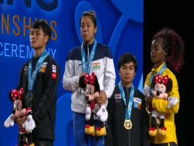 India's Mirabai Chanu wins gold medal in 48kg category at World Weightlifting Championships