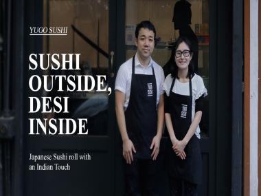 Watch: This sushi joint in Mumbai serves sushi burritos with an Indian touch