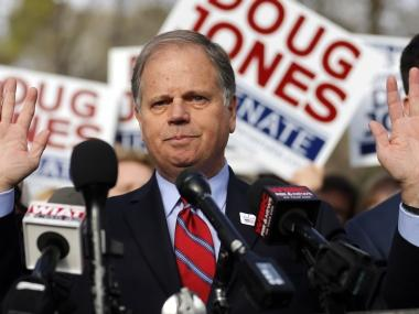 Doug Jones defeats Roy Moore in Alabama Senate race, narrows Republican majority in upper chamber to 51-49