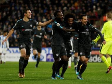 Premier League: Chelsea cruise past Huddersfield Town; Burnley beat Stoke City to go fourth