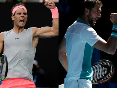 LIVE Australian Open 2018, tennis score and updates, quarter-finals match: Rafael Nadal wins 1st set against Marin Cilic