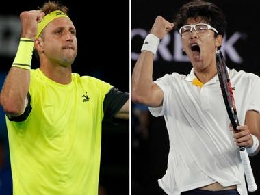 LIVE Australian Open 2018, tennis score and updates, quarter-final match: Hyeon Chung leads 2-0 vs Tennys Sandgren