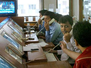 Sensex hits 35,000 mark first time, up 223 points; tech, banking stocks lead rally