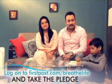 Take the breathe life pledge and say no to air pollution!
