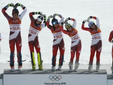 Winter Olympics 2018: Switzerland oust rivals Austria to claim inaugural alpine team skiing gold; Norway take bronze