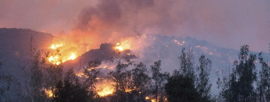 Six wildfires continue to flare in southern California; thousands evacuated as fire crews struggle to contain flames