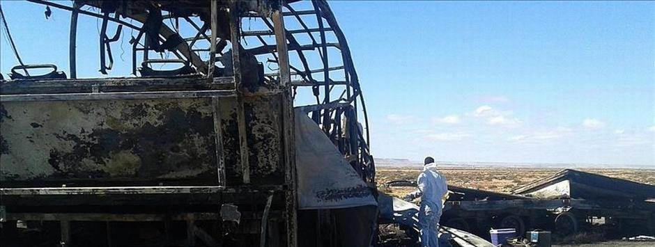 Kazakhstan: 52 killed after bus catches fire in Aktau region; cause of blaze unknown
