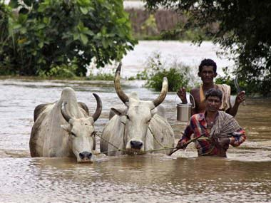 Following halt in rains in upper catchment area and reduced inflow, water level in Hirakud reservoir dropped marginally. AP Photo