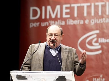 Berlusconi's resignation would be the end of a nightmare: Umberto Eco
