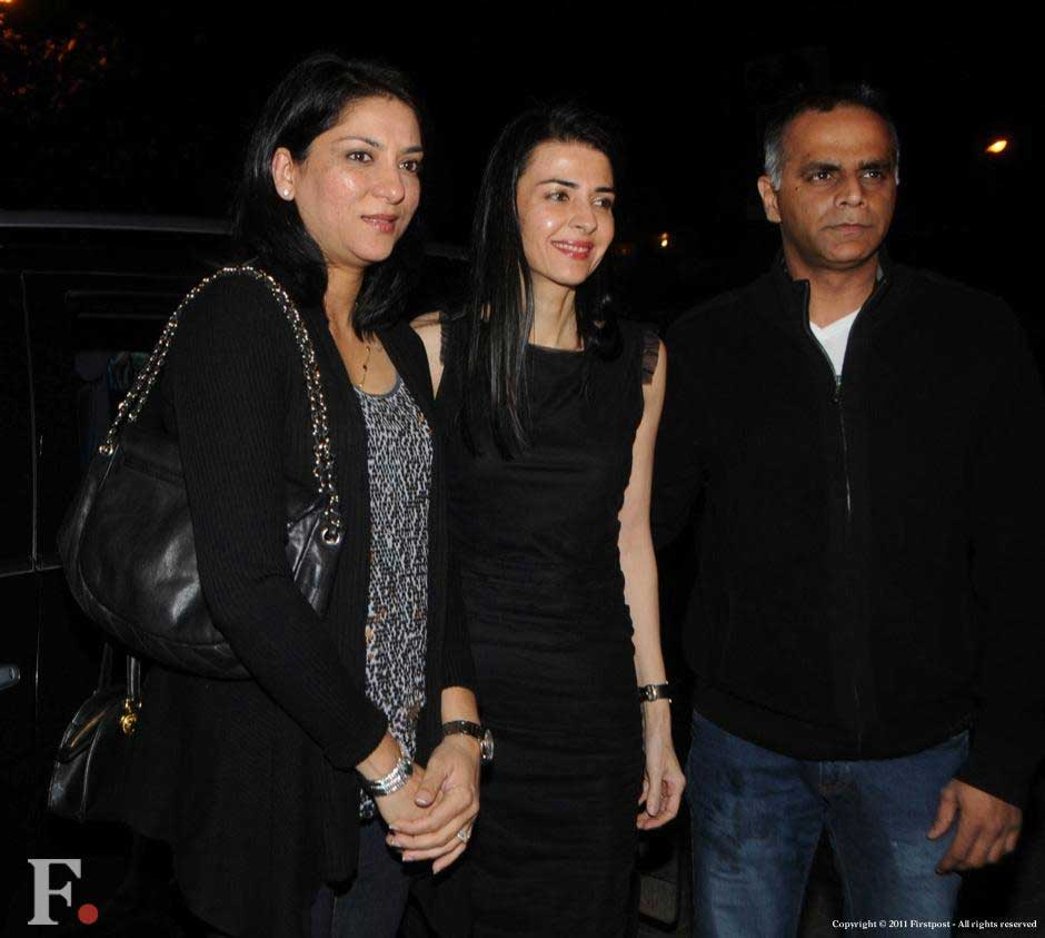 Priya Dutt-Roncon, Namrata Dutt and Owen Roncon at the party. Raju Shelar/Firstpost