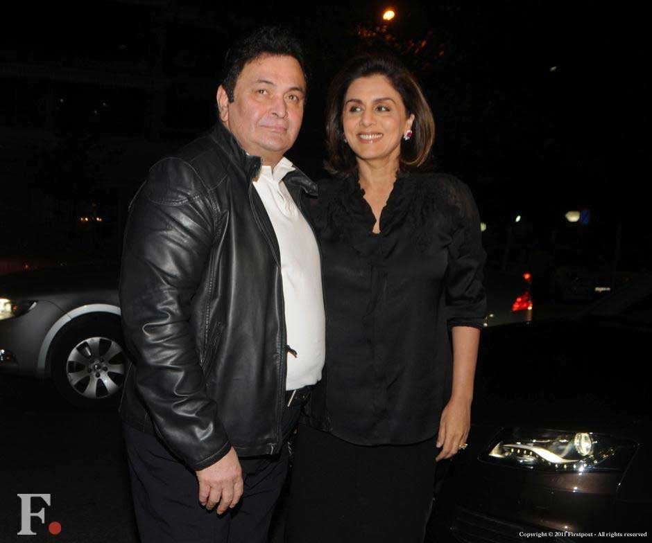 Rishi Kapoor and Neetu Singh at the party. Raju Shelar/Firstpost