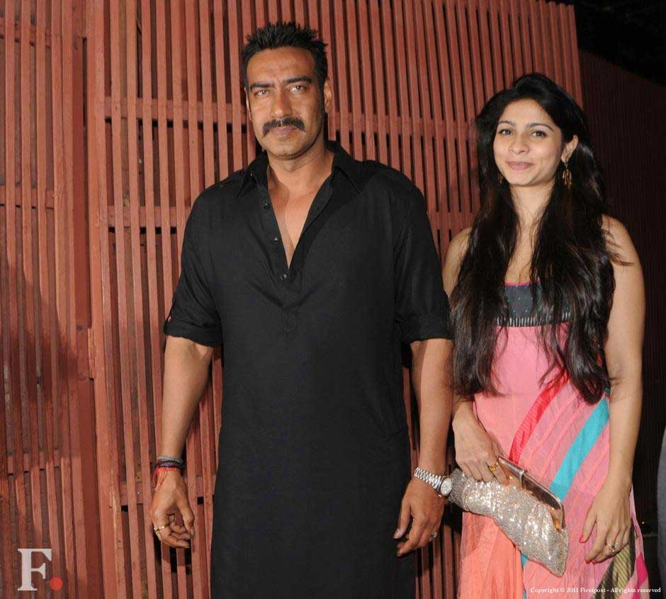 Ajay Devgn and Tanisha Mukherjee at the party. Raju Shelar/Firstpost