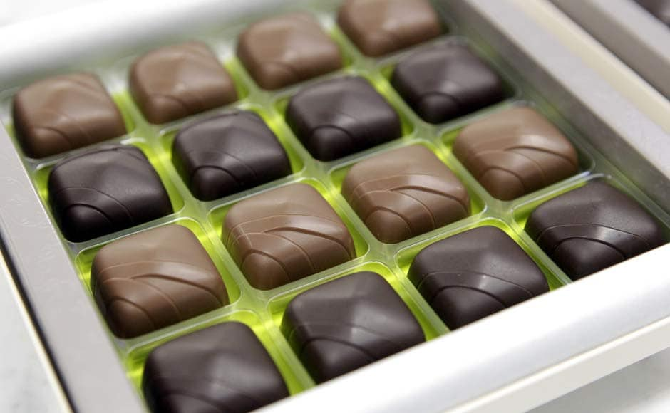 We love it when chocolates come like this. A selection of pralines are pictured during a presentation at the Swiss chocolate maker Cailler in Broc. Reuters