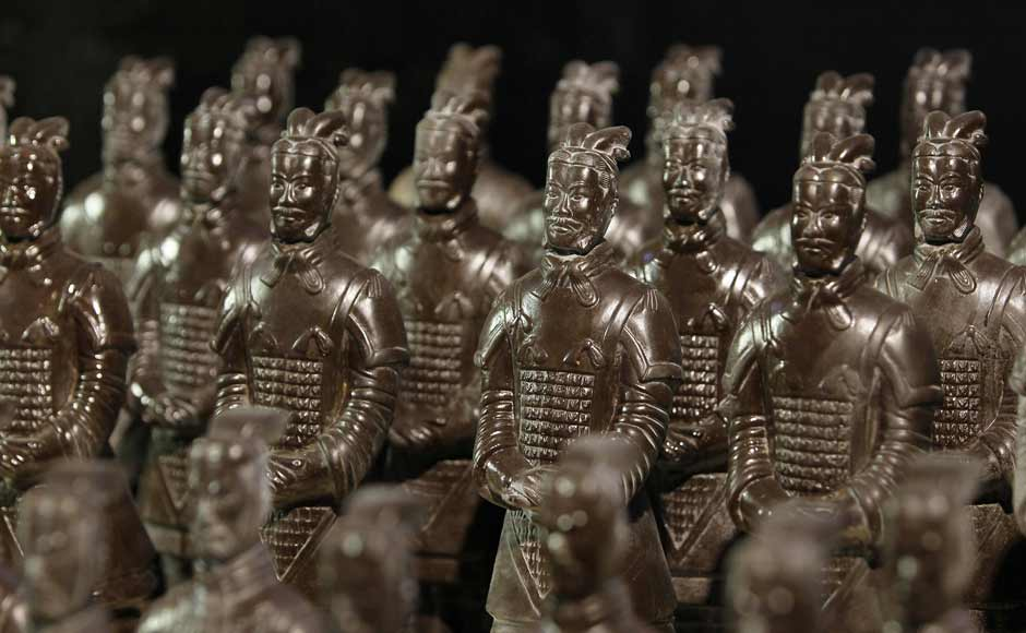 Chinese Warriors made of chocolate. An army of chocolate! Reuters