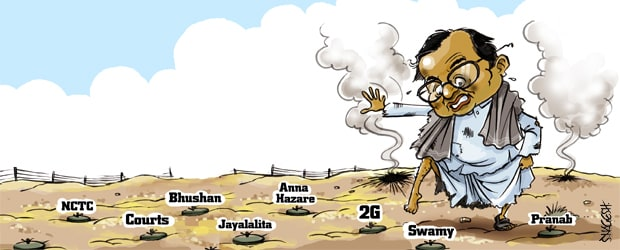 Chidu literally in a minefield!
