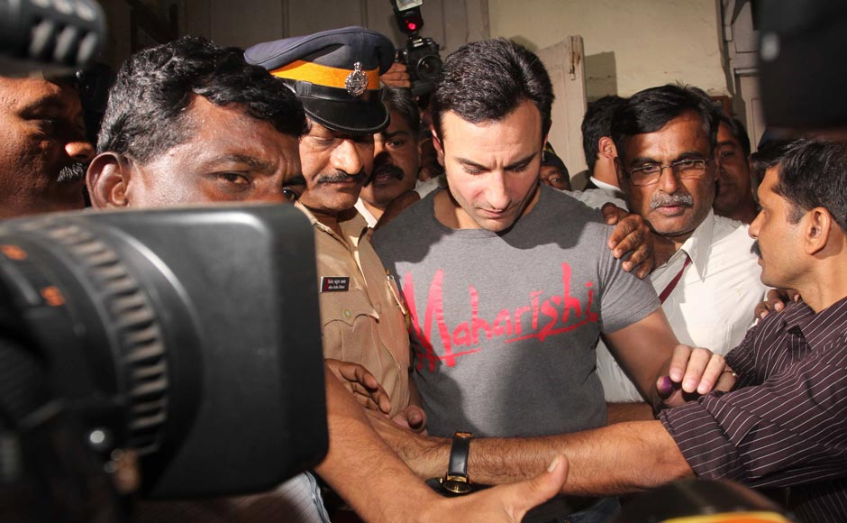 Images: Saif gets bail for acting in 'self-defence'