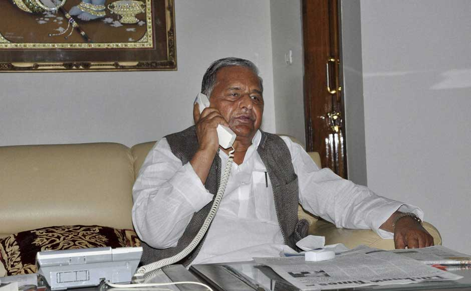Mulayam Singh Yadav could be the next chief minister of Uttar Pradesh as results show that SP is leading in nearly 165 constituencies. PTI