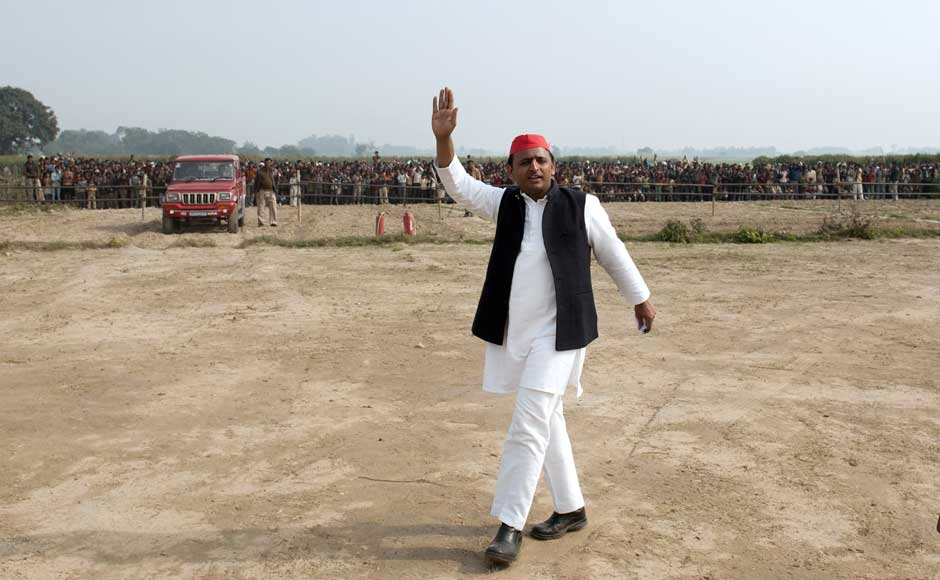 Samajwadi Party general secretary and Mulayam's son, Akhilesh Yadav has worked very hard to change the image of the party in this election. NYT