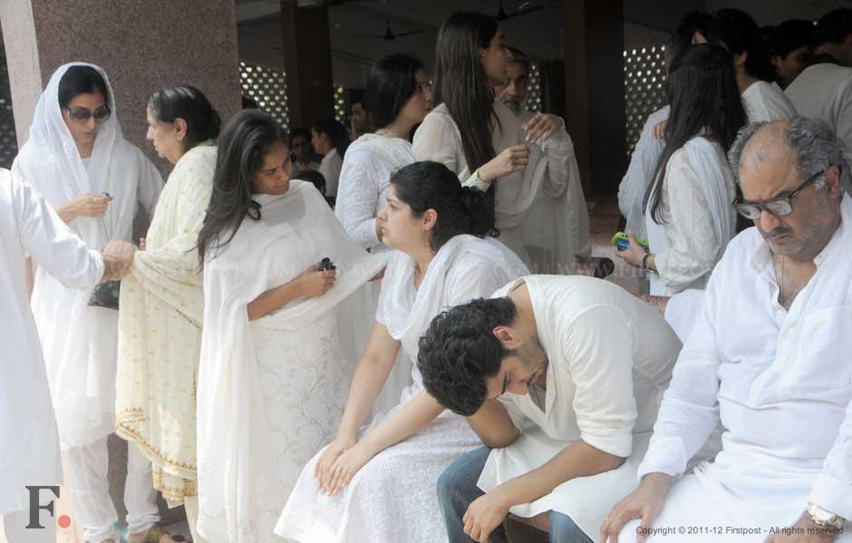 Tabu, Arpita Khan, Anshula, Arjun and Boney Kapoor, Maheep and Sonam Kapoor. Raju Shelar/Firstpost