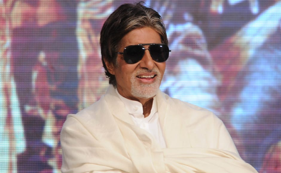 Amitabh Bachchan at a press conference to unveil the first look of Ram Gopal Varma's next film, Department. Raju Shelar/ Firstpost