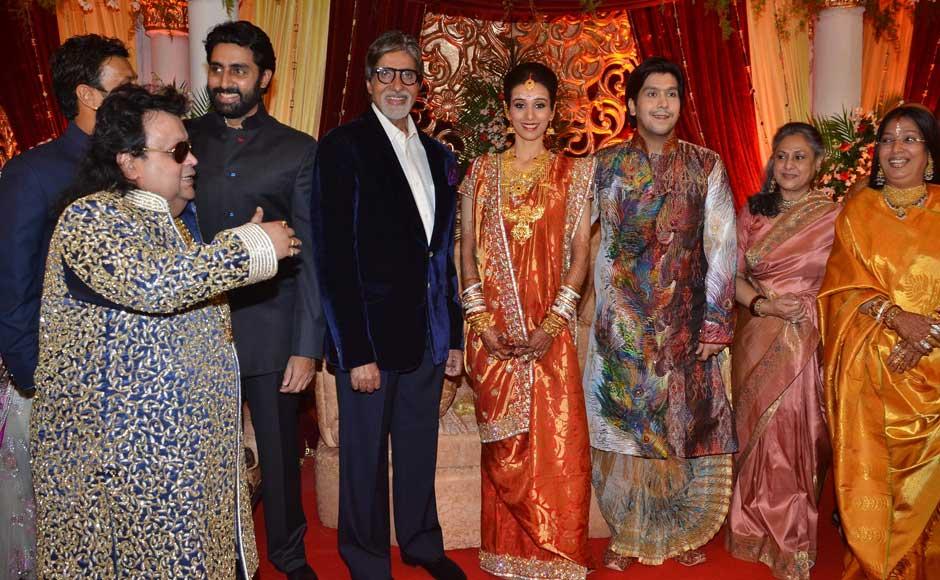 The Bachchan family attends Bappa Lahiri and Taneesha Verma's wedding reception.