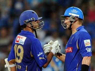 Dravid takes on the reigns at Rajasthan in this year's IPL. AFP