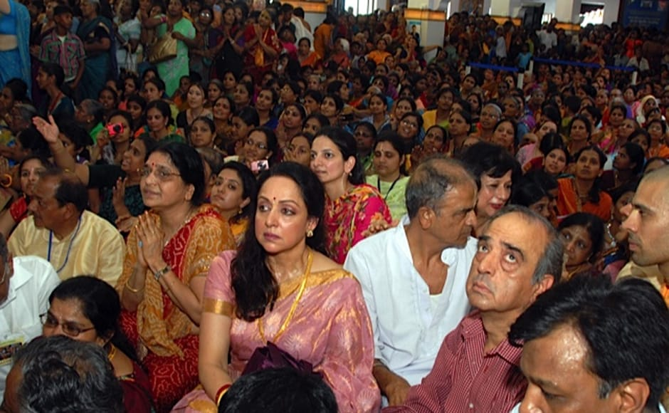 Hema Malini at a congregation of ISKCON temple. Firstpost