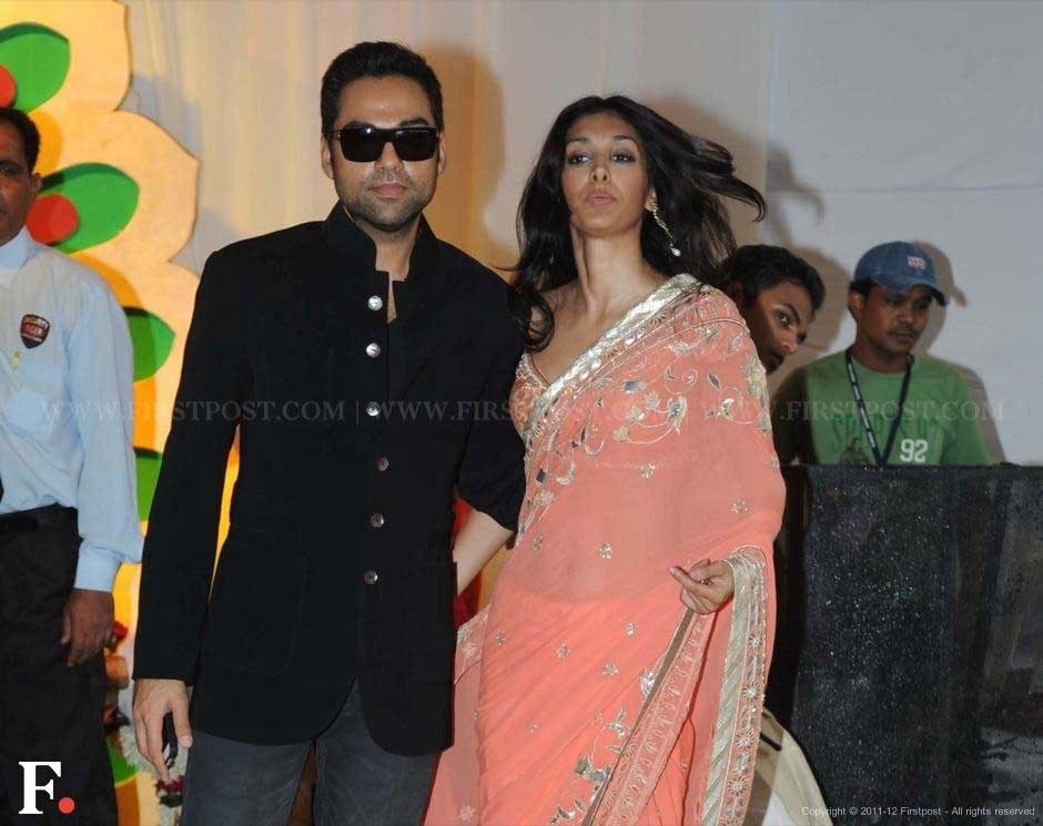 Abhay Deol with Preeti Desai at Esha Deol's wedding. Raju Shelar/Firstpost