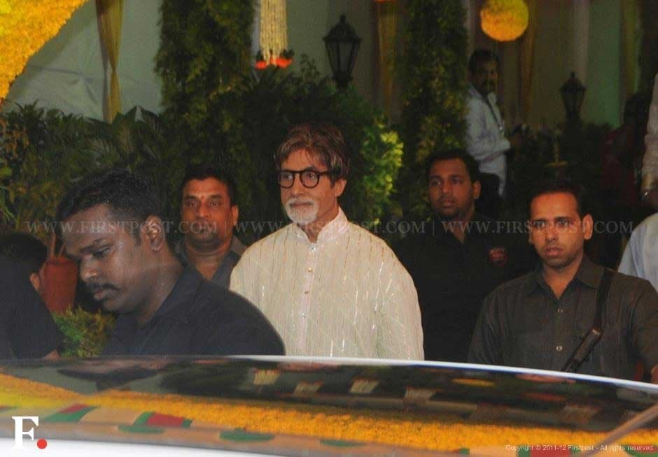 Amitabh Bachchan attends Esha Deol's wedding. Raju Shelar/Firstpost