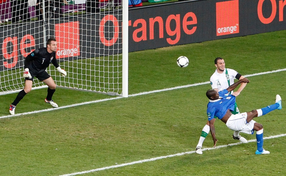 But the goal finally came. And it came in style. Balotelli brilliantly volleyed this goal against the Republic of Ireland to silence his critics. Reuters