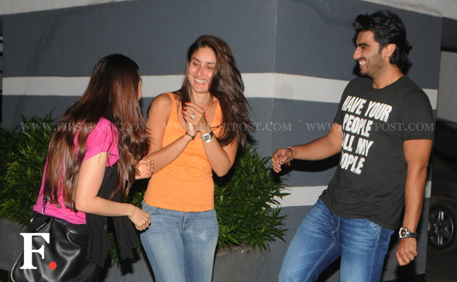 Sisters Kareena and Karisma Kapoor with Arjun Kapoor .Raju Shelar/ Firstpost