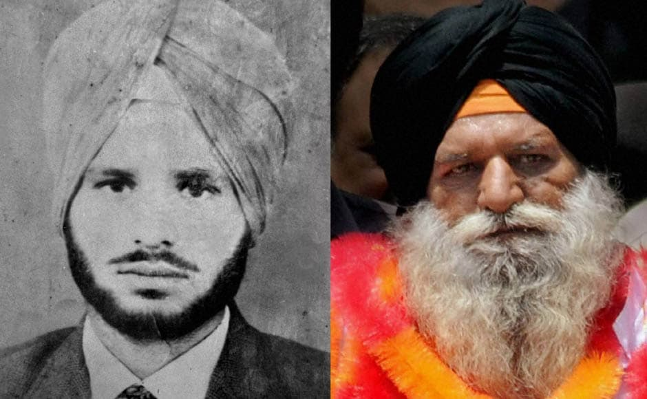 A combo picture shows a photograph of Surjeet Singh taken 31 years ago along with a present one. PTI