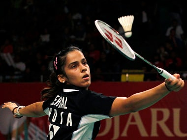India's Saina Nehwal returns a shot to Taiwan's Cheng Shao Chieh at the Djarum Indonesia Badminton Open Super Series Premier tournament in Jakarta. Reuters