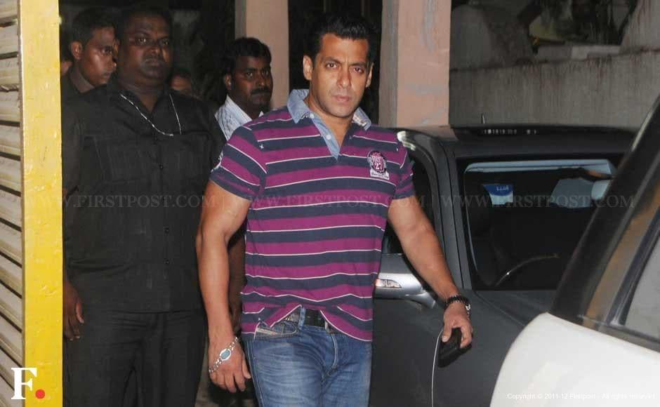 Salman Khan at the screening theatre, Ketnav, in Bandra. Raju Shelar/Firstpost