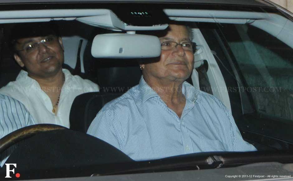 Salim Khan, Salman's father, at the screening of The Avengers. Raju Shelar/Firstpost