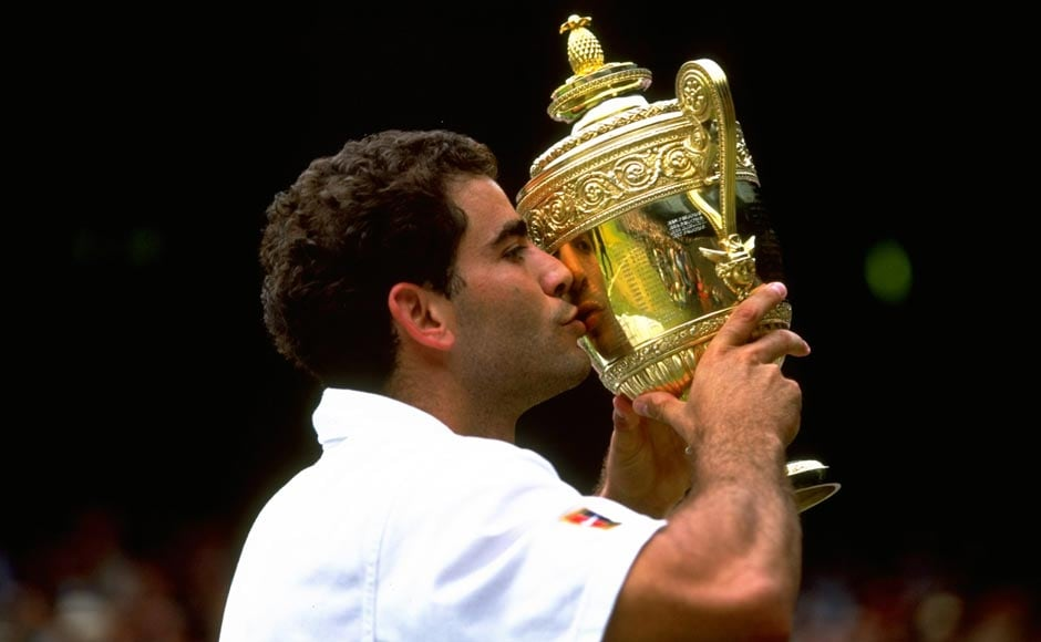 Sampras was World number one for 286 weeks. Gary M Prior/Allsport/Getty Images