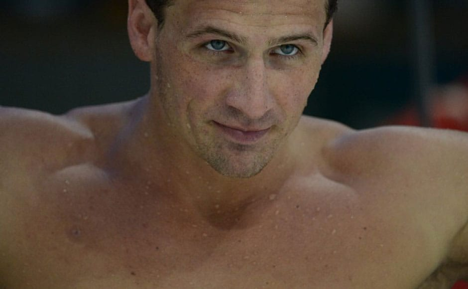 US swimmer Ryan Lochte attends a training session on July 26, 2012 at the Aquatics center in London, on the eve of the opening ceremony of the 2012 London Olympic Games.AFP