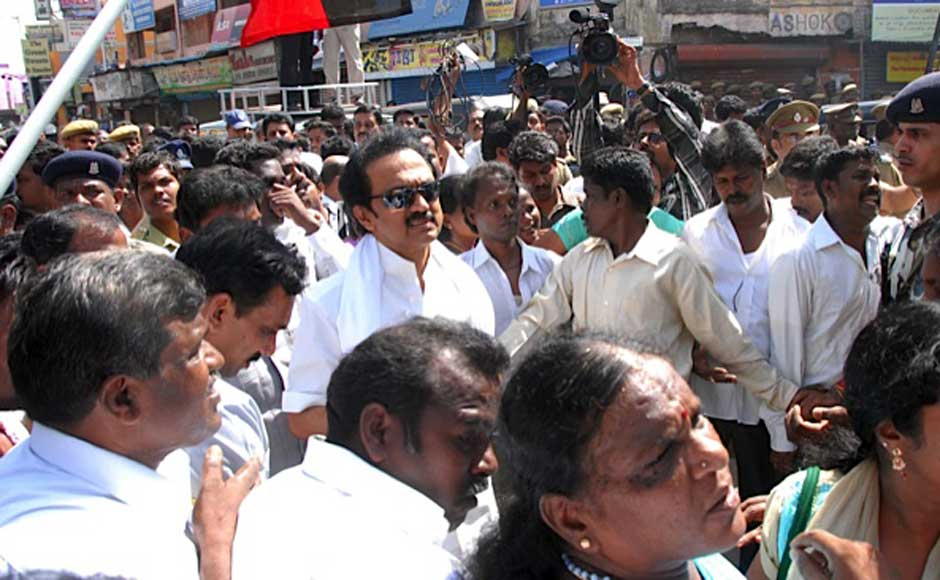 Stalin at the protest. Firstpost