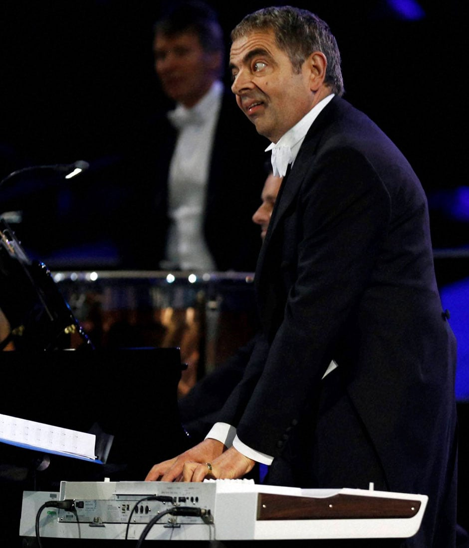 Actor Rowan Atkinson performs during the Opening Ceremony at the 2012 Summer Olympics, Friday, July 27, 2012, in London. AP/PTI