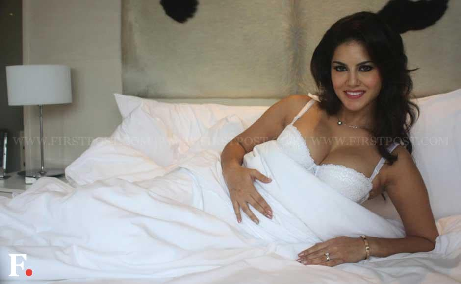 Sunny Leone pose for a promotional shoot for her upcoming film 'Jism 2' at Le Meridian Hotel in New Delhi. Naresh Sharma/Firstpost
