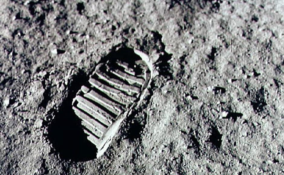 Neil Armstrong steps into history July 20, 1969 by leaving the first human footprint on the surface of the moon.Getty Images