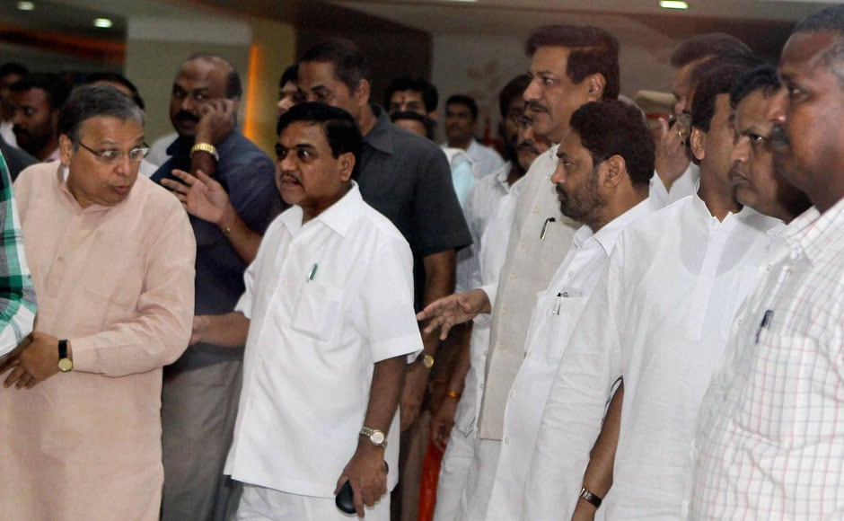 Maharashtra Chief Minister Prithviraj Chavan during his visit Vilasrao Deshmukh, who is being treated at a hospital in Chennai. PTI