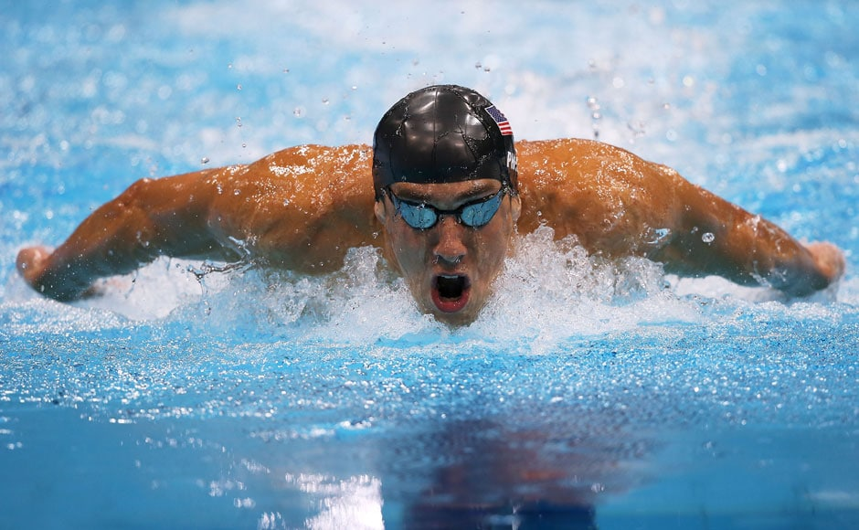 Michael Phelps of the United States competes in the Men's 200m Butterfly final.Clive Rose/Getty Images